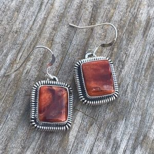 Navajo Sterling Silver Spiny Dangle Earrings